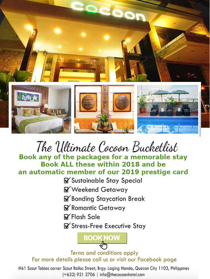 Cocoon Boutique Hotel QC Promo