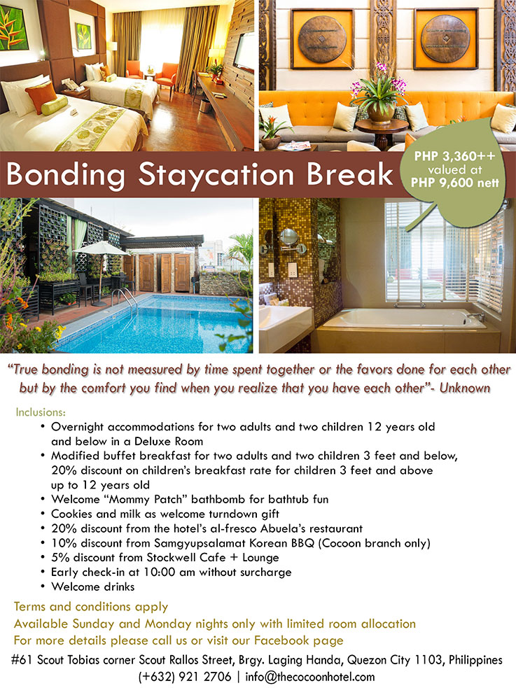 Cocoon Boutique Hotel QC Promo 2
