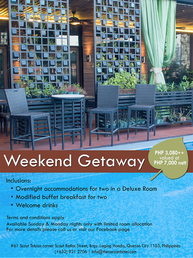 Cocoon Boutique Hotel QC Promo 7